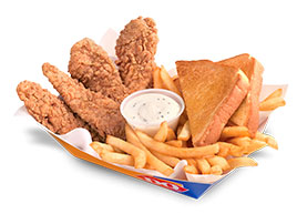 Chicken Strip Basket with Texas Toast and French Fries